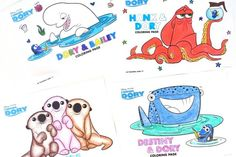 Countdown the days until Disney•Pixar's Finding Dory dives into theaters on June 17th with our printable coloring pages full of friendly faces, old and new.