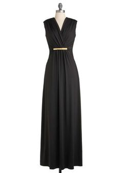 Nightfall for You Dress, #ModCloth (try this with a black maxi infinity dress, add a skinny gold belt, voila!)
