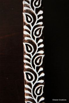 Pottery Stamps, Indian Wood Stamp, Textile Stamp, Wood Blocks, Tjaps, Printing Stamp- Paisleys Border