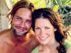 TV series Lost (2004-2010) behind the scenes. – Josh Holloway and Evangeline Lilly.  – The survivors of Oceanic Flight 815 were 1,000 miles off course when they crashed on a lush, mysterious island. Each person possesses a shocking secret, but they've got nothing on the island itself, which harbors a monstrous security system, a series of underground bunkers and a group of violent survivalists hidden in the shadows.