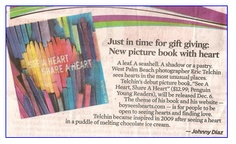"Sun Sentinel: ""Just in time for gift giving: New picture book with heart."""