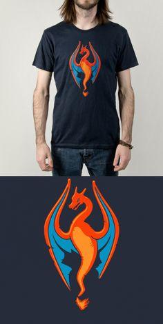 Charizard Dragonborn T Shirt | A skyrim Pokémon mashup video game shirt. Fireborn! | Visit http://shirtminion.com/2015/05/charizard-dragonborn-t-shirt/