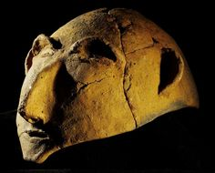 Etrurian funeral mask, in Chianciano, Italy