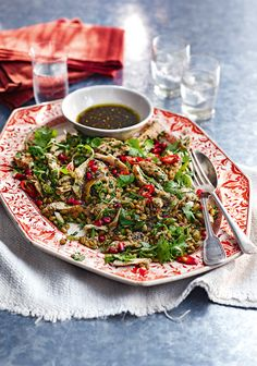 Turkish cuisine is a fantastic celebration of big flavours and plenty of spice. Try these Turkish recipes including lamb koftas, chicken shish and syrup-soaked baklava. Lebanese Recipes, Turkish Recipes, Ethnic Recipes, Arabic Recipes, Palestine Food, Pomegranate Recipes, Pomegranate Seeds, Chickpea Salad Recipes, Eastern Cuisine