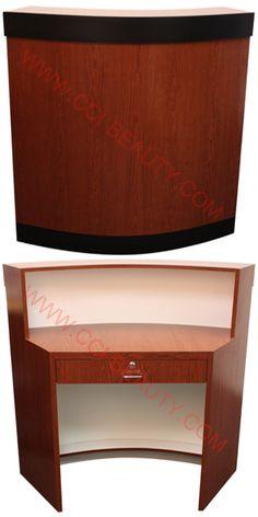 Reception Desks CC-7006-SelectCherry #receptiondesk #frontdesk #salon #spa #dayspa #barbershop #barber