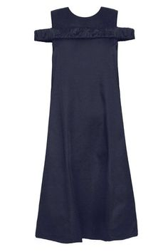 14 Cocktail Dresses That Work For Every Occasion #refinery29  http://www.refinery29.com/cocktail-party-dresses#slide-4  Get your dose of off-the-shoulder action without going all the way.Toit Volant Bellevue Navy Midi Dress, $186, available at Pixie Market....
