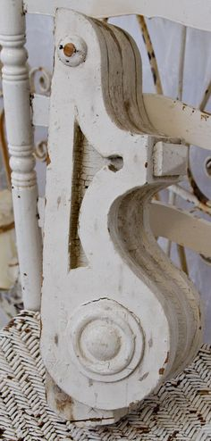 chippy paint antique architectural corbel