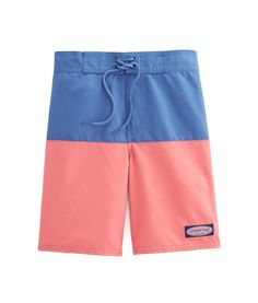 8975b0adc6 Shop Boys Pieced Board Shorts at vineyard vines Boys Swim Trunks, Vineyard  Vines, Activities