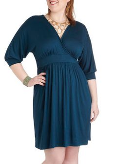 Sea-ing is Believing Dress in Plus Size, #ModCloth 42.99