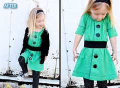 Better After: Fashion Friday: Little Girl Dresses Remade