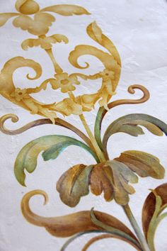 Nice Example: Decorative Painting with Stencils   Paint + Pattern