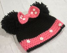 Crochet Minnie Mouse Hat.