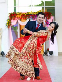 Nepali bride & groom Indian Wedding Poses, Indian Bridal Photos, Indian Wedding Couple Photography, Wedding Couple Photos, Indian Bridal Outfits, Wedding Dresses Photos, Bridal Photography, Bridal Photoshoot, Bride Groom