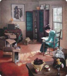 Woman reading - Joyce Camron