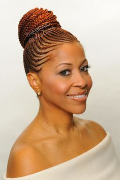 Feed In Cornrows in a bun - Braids by http://zarahcharm.com/