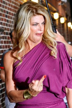 Kristie Alley flipping the bird