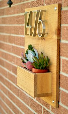 Address Planter Box by LittleBitGallery on Etsy