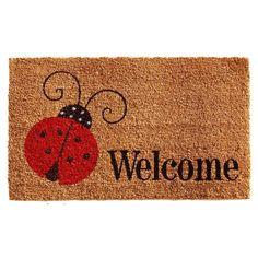 Momentum Mats Ladybug Welcome with Vinyl Backing Doormat