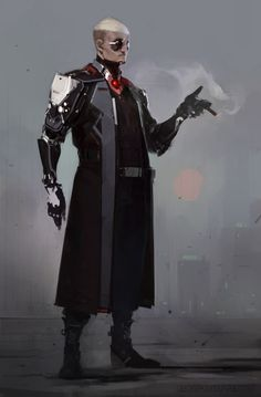 Cheer up, soldier folks: Ihor Pasternak is a concept artist and illustrator who works at Plarium, an MMO and mobile studio. Arte Ninja, Arte Robot, Robot Art, Rpg Cyberpunk, Cyberpunk Fashion, Character Concept, Character Art, Concept Art, Space Opera