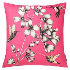 Buy Harlequin Amazilia Floral Cushion, Magenta Online at johnlewis.com