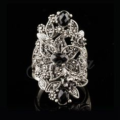 Thai Silver Ring High Quality Marcasite Retro Flower Ring
