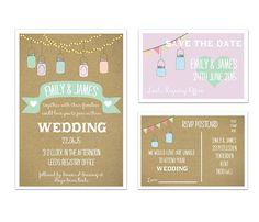 'jars' wedding stationery range by a bird & a bee | notonthehighstreet.com