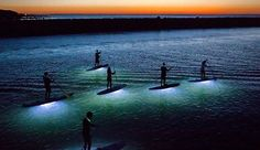How cool does this look? SUP Night Yoga with Ride on Retreats in Portugal