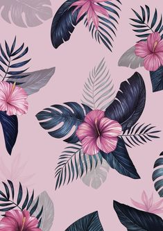 Lock screen floral wallpaper backgrounds Ideas for 2019 Wallpaper Flower, Tropical Wallpaper, Iphone Background Wallpaper, Locked Wallpaper, Flower Backgrounds, Pink Wallpaper, Aesthetic Iphone Wallpaper, Iphone Backgrounds, Iphone Wallpapers