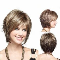 Stylish Highlight Synthetic Wig Natural Curly Hair Capless Side Bang