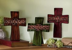 Inspirational Terra Cotta Cross Decor