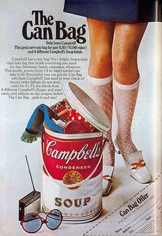 Vintage Ads ## Im guessing this is circa 50s? I really want one, so awesome!!! Bring them back Campbells!