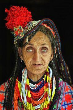 Kalash woman, Pakistan.