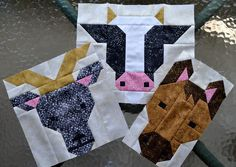 Welcome to the Let's Bee Social! What am I working on this week? I chose my fabrics for the Farm Friends quilt pattern.Cut everything for the blocks. And started to sew! Farm Friends - Billy Goat, Cow
