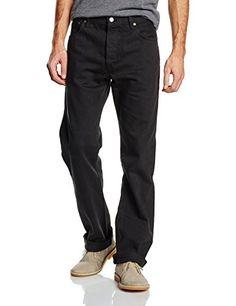 Levi's – Modèle classique, jean avec les boutons – 00501-0165 – Taille W29 / L32 – Couleur Noir: Modèle 501 – One Wash. Modèle classique,…