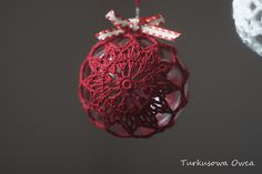 bombki na szydełku, crochet, crochet baubles, Christmas tree, christmas decorations