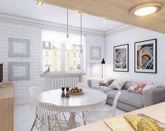 Apartamento de 25 m² con una elección de color perfecta | Decoración