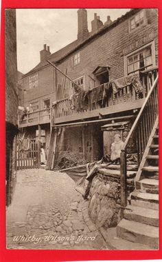 OLD VINTAGE 1926 FRITH POSTCARD WILSONS YARD WHITBY YORKSHIRE   eBay