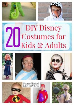 20 DIY Disney Costumes for Kids and Adults- There is something for the whole family included in these 20 homemade Disney Halloween costumes. Find a costume idea to wear to a Halloween party!