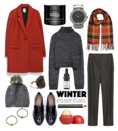 """""""[Contest] Winter Essentials - Embers"""" by erenthae ❤ liked on Polyvore featuring Bulgari, Zara, Eos, philosophy, Odacité and Burberry"""