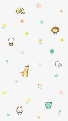 Small animals Wallpaper Gatos, Cute Pastel Wallpaper, Soft Wallpaper, Flower Phone Wallpaper, Cute Patterns Wallpaper, Iphone Background Wallpaper, Cute Disney Wallpaper, Aesthetic Pastel Wallpaper, Kawaii Wallpaper
