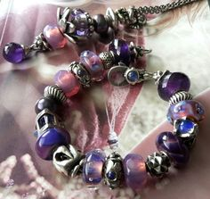 Purple /Aurora ♡♡♡ Glorious museum beads and Aurora beads from a German Trollbeads collector! On Trollbeads Gallery Forum!