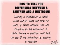 Difference---Again, this is not just autism!! -
