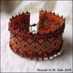 """Pattern bijoux: Bracciale """"Comme un galon indien"""""""