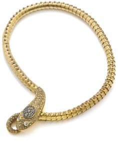 A diamond and coloured diamond serpent necklace, by A Codagnato
