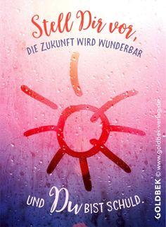 Postkarten - Sommerregen. Stell dir vor, die Zukunft wird wunderbar und du bist schuld!