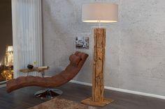 Massive Teakholz Stehlampe ROOTS sand Treibholz Lampe höhenverstellbar