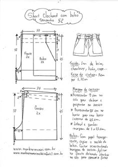 Impossible to miss, Ikea hacks are everywhere! Dress Design Patterns, Pattern Design, Sewing Patterns, Pola Rok, Sewing Shorts, Sewing Lessons, Crochet Baby Clothes, Pattern Cutting, Pattern Drafting
