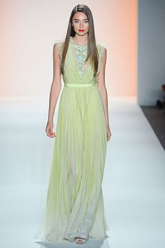 Jenny Packham Spring 2012- love the neckline, ombre, and pleats but needs a different color