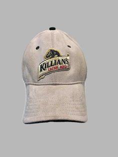 128a41db92144d Killians Irish Red Hat Tan Faux Suede Embroidered Strapback Baseball Cap   BaseballCap  irish  beer