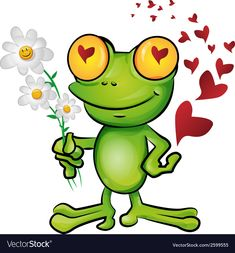 Frog Frog Prince Cartoon Toad Smiley for Valentines Day - Funny Frogs, Cute Frogs, Prince Cartoon, Tree Frog Tattoos, Frosch Illustration, Frog Quotes, Hump Day Humor, Batman Drawing, Frog Pictures